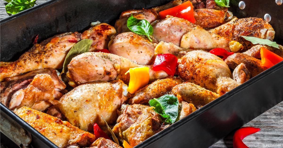كيفية عمل صينية دجاج بالفرن   سوبر ما ما