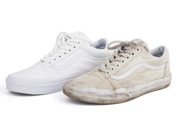 كيفية تنظيف الحذاء الابيض القماش  طريقة