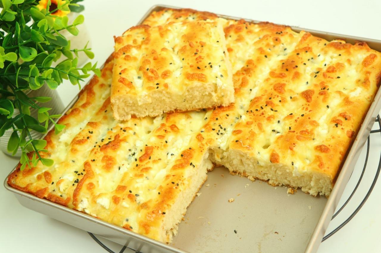فطيرة الجبنة التركية بعجينة سحرية هشة بدون عجن جميلة لكافة نوعيات المعجنات  مع رباح محمد  الحلقة 743