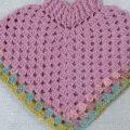 شال كروشيه للاطفال shawl crochet for baby - YouTube