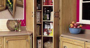 فكرة جديدة وغير تقليدية لدولاب الزاوية في المطبخ