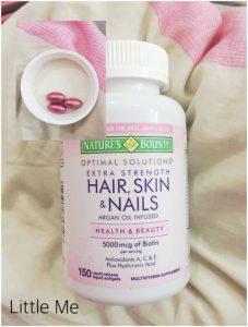 مين جرببت فيتامين اسمه Hair Skin Nails اللي بعلبه لونها موف