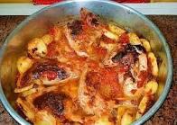 فاتك نص عمرك لو ماذقتي احلى صينية دجاج بالحمر والبطاطس دمار يمي يمي